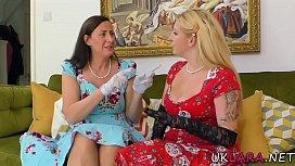British milf lesbian eating pussy