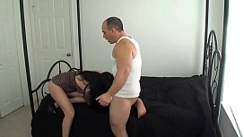 Giving step mom a creampie