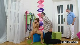 Stud assists with hymen examination and nailing of virgin nympho xxx video