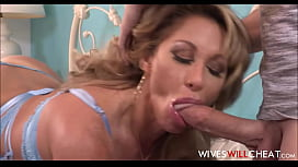 Huge Tits MILF Step Mom Farrah Dahl Has Sex With Stepson While His Dad Watches On Security Cam