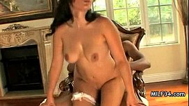 MILF got horny and had her way with his cock