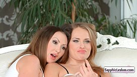 Sapphic Erotica Lesbians Free movie from www.SapphicLesbos.com 14