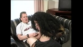 Lusty ebony with a great ass Tina Burner takes client home to suck his tool
