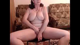 hot 48 yo russian mature maria play in skype