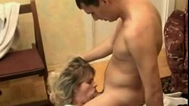 Mature woman - mouth fucked hard