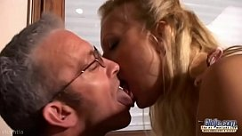 Old young kissing compilation xxx video