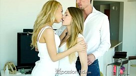 PASSIONHD Double pussy appetizer threesome with Alina West and ey Cole