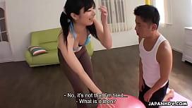 Japanese fitness freak, Hina Maeda is fucking her workout partner