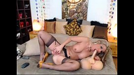 Busty MILF Rubs Clit on Webcam - More Free Cams at FreeSexStreaming.com