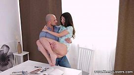 Teeny Lovers - Katty West assfucked by her college tutor