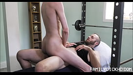Skinny Twink Step Son Sex With Step Dad After Workout And Arm Wrestling