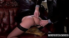 Teen Secretary Nickol Sweet Satisfies Old Boss with Her Tight Asshole