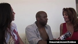 Texas Cougar Deauxma &amp_ Colombian Ariella Ferrera Share BBC!