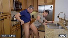 Daddy (Dean Phoenix) fucks his stepson (Ty Mitchell) with (Bar Addison) watching - Men.com