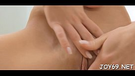 Legal age teenager receives pleasure with fingers