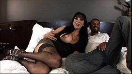 Big tit mature milf loves big black cock in Interracial Amateur Video xnxx image