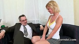 Elegant college girl is tempted and reamed by aged instructor sex videos