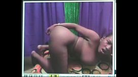 Ebony babe showing off more at WildCamParty com
