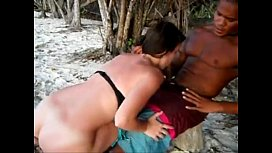 Teen rides random boy at the beach bareback on her girl's holidays.