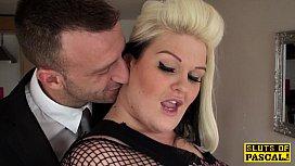 Fat british sub pu ucked in lingerie