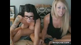 Hot Lesbians Fooling Around On Their Cam Show