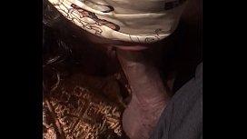 Blindfolded dick suck