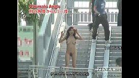자막이 굵은 일본인 공개 나체 주의자가 산책하러갑니다