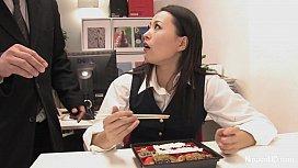 Japanese office Blowjob hitomi tanaka gif