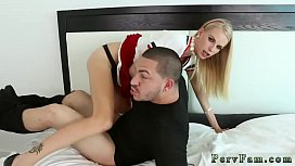Threesome with two big boobs compeer'_ patron'_s sister 18 and hardcore