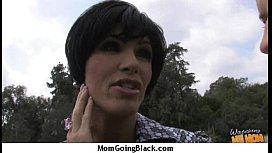 Huge Black Meat Going into Horny Mom 9