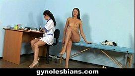 Lesbian doctor seduces her patient