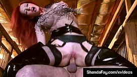 Canadian Cowgirl Shanda Fay Rides Her Pony Until He Cums!