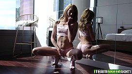 Brad Newman thrusting hard inside Zoe Sparx tight cooch as she squeals