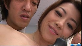 Strong office fuck along the boss for& Maki Hojo&