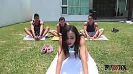 Axxxteca, Sexy brazilian teen Amanda is fucked by Mexican Dicks in hard anal pration!!