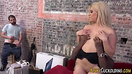 Blonde wife sucks bbc