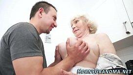 Fuzzy granny jizz mouthed