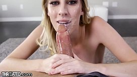Throated Cadence Lux Gives Nasty Sloppy Throatjob