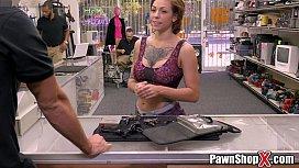 Big Tits Tattooed Slut In Need Of Cash Money On PawnShopXcom Xp15507