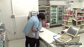Asian Amateur Porn Real Store Chief Wife Fucked Spycam