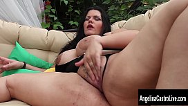 Big Tit Cuban Slut Angelina Castro Squirts and Blows