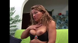 Flabby mature chick in black tights anal fucked in classy room
