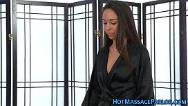 Angelic masseuses vag tasted
