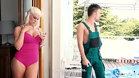 KINKY INLAWS - Czech stepmother Blanche Bradburry gets DP by stepson and friend preview