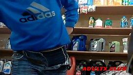 Amateur Blowjob In A Shop