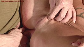 I fucked seductive and busty milf in the ass and I peed into her mouth