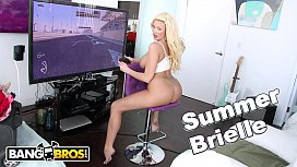 BANGBROS - Busty Blonde MILF Summer Brielle Squirts All Over Mike Adriano's Cock