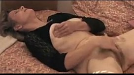 Old Woman Rubbing Her Hairy Old Pussy