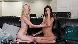 GIRLSWAY Watching My Boyfriend'_s Porn With My Bestie Eliza Ibarra