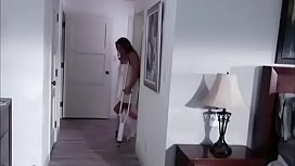 Son enjoys his mother with crutches and fucks her hairy pussy - PornoGozo.com